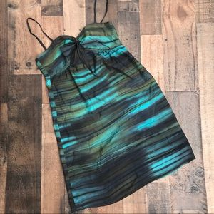 Theory Selby Multi Color Slip Dress